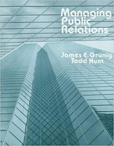 "Livro: ""Managing Public Relations"" de James E. Grunig,Todd Hunt"